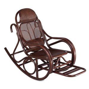 Кресло-качалка с выдвижной подножкой JR ALDINO темный