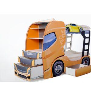 """Двухъярусная кровать """"Скания+2"""" манго"""