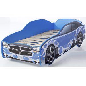 """Кровать-машина LIGHT """"Додж"""" синий"""