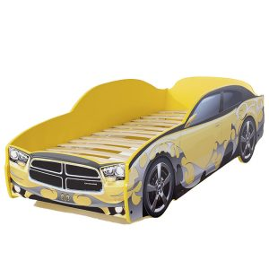 """Кровать-машина LIGHT """"Додж"""" желтый - без подсветки"""
