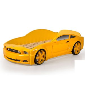 """Кровать-машина """"Мустанг"""" 3D желтый"""