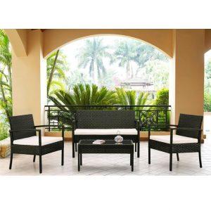 Комплект кофейный стол+2 кресла