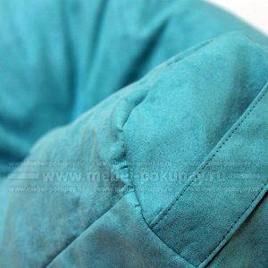 КРЕСЛО-МЕШОК ГРУША XL ЗАМША ГОЛУБАЯ REST BLUE